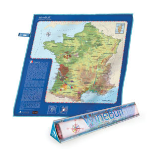 Winebuff Map Package Microfiber Polish Towel France