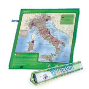 Winebuff Map Package Microfiber Polish Towel Italy