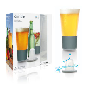 Dimple Pint Beer Chilling Glass package