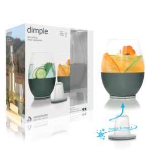 Dimple Stemless Glassware Diagram