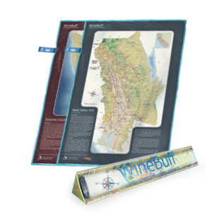 Winebuff Map Package Microfiber Polish Towel Napa