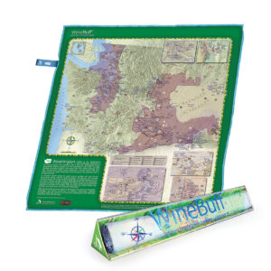 WA Winebuff Map Package Microfiber Polish Towel